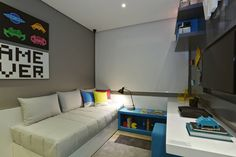 House Party Teens Room Ideas Ideas For 2019 Gamer Bedroom, Kids Bedroom, Bedroom Decor, Geek Room, Single Bedroom, Home Office Decor, Home Decor, Room Themes, Boy Room