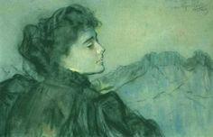 Leon Wyczółkowski Marzenie. Portret Jadwigi Krysińskiej, 1897