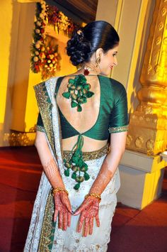 lovely back.... Sabyasachi Mukherjee.
