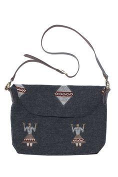 wool shoulder bag. me and arow.