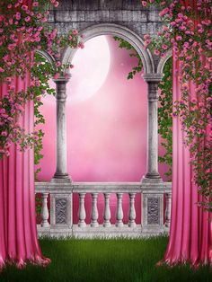 5x7ft Pink Fairytale Photography Backdrop Prop Photo Background
