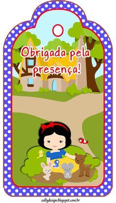 "CALLY'S DESIGN: Kit Personalizado Tema ""Branca de Neve Cute"" Diy Paper, Paper Crafts, Snow White Birthday, Ideas Para Fiestas, Princesas Disney, Holidays And Events, Party Themes, Party Ideas, Alice"