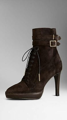 Brogue Platform Ankle Boots