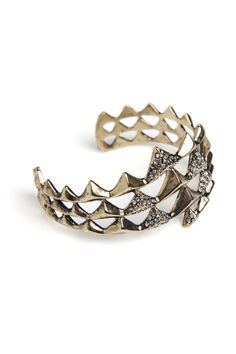 HOUSE OF HARLOW 1960. PYRAMID WRAP CUFF WITH PAVE
