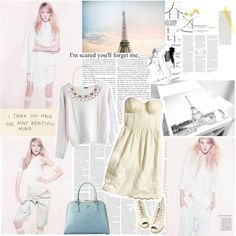 """""""white chocolate and jazz"""" by emilie-ethereal ❤ liked on Polyvore"""