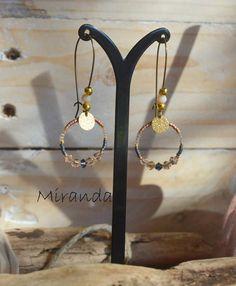 Boucles d'oreilles Miranda, collection Sunset - L'Atelier des Misstinguettes