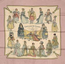 Hermès - Costumes de dames d'après Deveria, signé