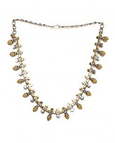 Golden and Silver Leaf Necklace