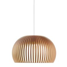 Dining Room Pendant -- Secto Design Seppo Koho Atto 5000 Pendant Light in White Black or Natural Pendant Lighting, Handmade Lamps, Lamp, Light, Pendant Lamp, Ceiling Pendant Lights, Lights, Pendant Light, Ceiling Lights