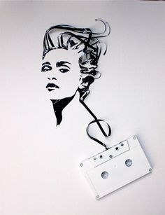Madonna art out of old cassette tape!