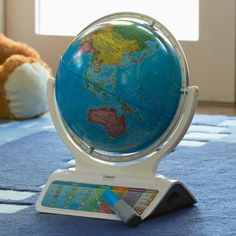 Oregon Scientific SmartGlobe Infinity - Have the world at your fingertips with this Oregon Scientific Interactive SmartGlobe. Complete with a Bluetooth™ Smart Pen, you can point ou...