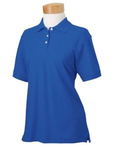 Devon  Jones Ladies Pima Piqu ShortSleeve Polo Small FRENCH BLUE *** Details can be found by clicking on the image. Note:It is Affiliate Link to Amazon.
