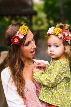 Mommy and Me Flower Crown set// Matching by daddysaidyesboutique My Flower, Flower Crown, Felt Bows, Felt Flowers, Mommy And Me, What To Wear, Daughter, Spring Summer, Trending Outfits