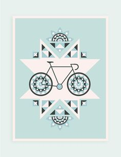 Bike Print by Chris Vara #illustration #design #bike