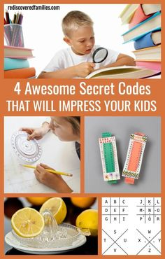 These 4 secret codes for kids are super impressive and very covert! Each code has a simple solution, once you know the secret! Have fun writing coded messages!