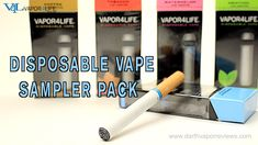 Quit smoking cigarettes today the easy way!! Disposable Electronic Cigarettes are a great way to try out vaping. The V4L Vape Sampler Pack comes in five different flavors in 3.6% nicotine. #v4l #vapor4life #vape #vaping #ecigs #disposableecigs #newvapers #beginnervapers #quitsmoking #stopsmoking