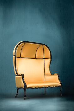 NAMIB Sofa by @BRABBU | Modern Sofas. Leather Sofa. Living Room Ideas. #modernsofas #yellowsofa #livingroomsofa Discover more: https://www.brabbu.com/en/upholstery/namib-2-seat-sofa/