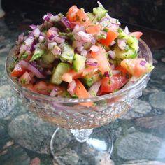 Persian Tomato and Cucumber Salad (Salad Shiraz) Recipe