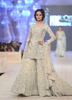 Ammara Khan - PFDC L`Oreal Paris Bridal Week Pakistani Bridal Wear# Pakistani Fashion# Pakistan# Pakistani Engagement Dresses, Engagement Dress For Bride, Pakistani Wedding Dresses, Pakistani Outfits, Indian Dresses, Indian Outfits, Indian Clothes, Saris, Nikkah Dress