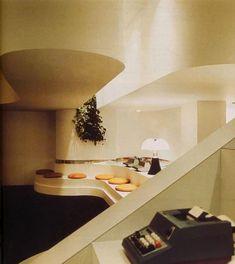 80s Interior Design, Interior Decorating, Interior Sketch, Photo D'architecture, Design Retro, Bachelor Pad Decor, Modernisme, Appartement Design, Deco Retro