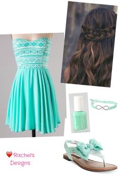Mint aztec dress. Would be a very pretty outfit for a dance