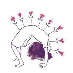 #yoga #asana #flow #women ##sacredfeminine #enlightenment #rose #flower
