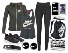 """NIKE"" by ada-ewe ❤ liked on Polyvore featuring NIKE, women's clothing, women, female, woman, misses and juniors"