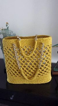 """Crochet bag """"Crochet Tote - Inspiration to create without a pattern."""""""