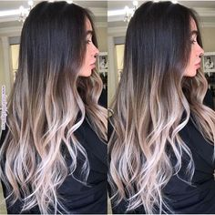 Are you going to balayage hair for the first time and know nothing about this technique? We've gathered everything you need to know about balayage, check! Blond Ombre, Brown Ombre Hair, Brown Blonde Hair, Dark Hair, Black Hair With Ombre, Baylage Ombre, Blonde Brunette, Dark To Light Hair, Platinum Blonde Ombre