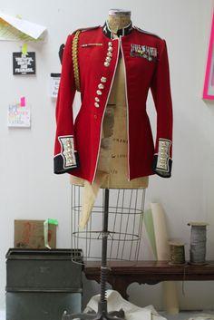 Vintage 70's Welsh red military jacket