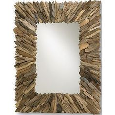 Beautifully crafted in natural driftwood, this mirror evokes an earthy tone and… #manualidadesdecoracion