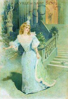 Vintage advertisement with Cinderella