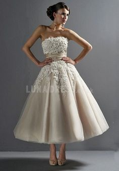Timeless Strapless Princess Sleeveless Tulle Bridal Gown