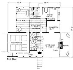 Mediterranean Prairie Style House Plan 43008 Level One