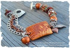 2 Autumn Bracelet Bead curved to fit your wrist by CapturedMoments, $5.35