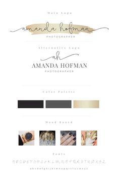 Premade Branding Package - Branding Kit - Photography Logo - Business Logo - Branding Logo - Logo Design Custom- Logo Design Branding