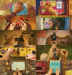 Wes Anderson | from overhead + hands