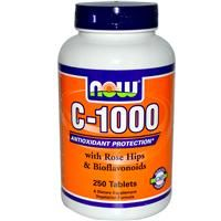 iherb vitamins, Now Foods, C-1000, with Rose Hips & Bioflavonoids, 250 Tablets