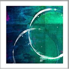 """Universal Lighting and Decor White Circles I 21 1/2"""" Square Framed... ($150) ❤ liked on Polyvore featuring home, home decor, wall art, backgrounds, blue, framed wall art, white home accessories, giclee wall art, circle wall art and blue wall art"""