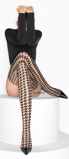 Wolford Tights, love the houndstooth pattern!  Women's fashion
