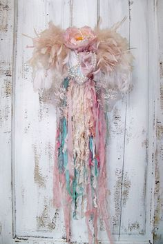 Shabby chic ornate wall decor feathered wings by AnitaSperoDesign, $175.00