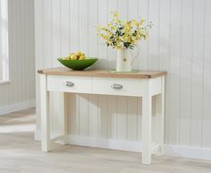 Somerset Oak and Cream Console Table.