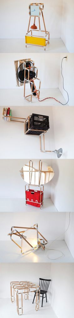 Sistema para crear muebles muy ingenioso /Joscha Weiand