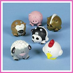 farm animals bowling ball | fun assortment of farm animal shaped relaxable balls. These foam balls ...