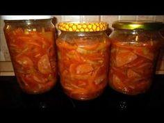 Špekáčky v pikantním nálevu s cibulí - YouTube Canned Meat, Salsa, Pork, Food And Drink, Beef, Stuffed Peppers, Make It Yourself, Canning, Vegetables
