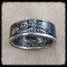Walking Liberty Half Dollar Coin Ring - Beautiful Coin - 1934-1947 Sizes 8.5 - 14.5