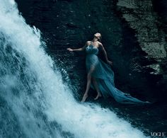 ""\""""It was life-changing—it opened a lot of doors."""" Theron says of her 2004 Oscar win. """"But it made poeple have a lot of opinions about what should happen next."""" Marchesa pale-blue tulle dress with embroidered underlay. Shot on location at Bushkill Falls in the Pocono Mountains, Pennsylvania.""236|195|?|en|2|539da8f598146710b6c87e604938e9e8|False|UNLIKELY|0.32269594073295593