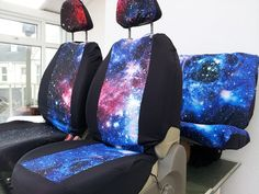 Car seat covers front and rear covers: Galaxy print by funkmyseat