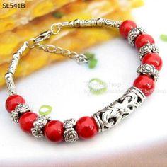 1P Tiberan Silver Gemstone Turquoise Coral Handmade Tibet Bracelet Bangle SL541   eBay