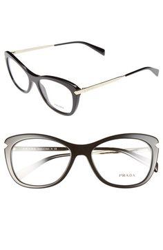 Prada 53mm Optical Glasses   Nordstrom